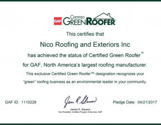 green roofer certificate